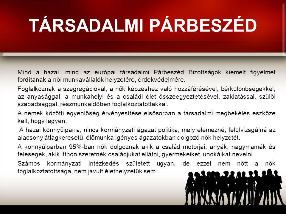ÉRDEKVÉDELEM A FÚZIÓ ELŐTT A munkáltatókkal való egyeztetés, a nők érdekeinek képviselete és védelme a szakszervezeti munka fontos része.