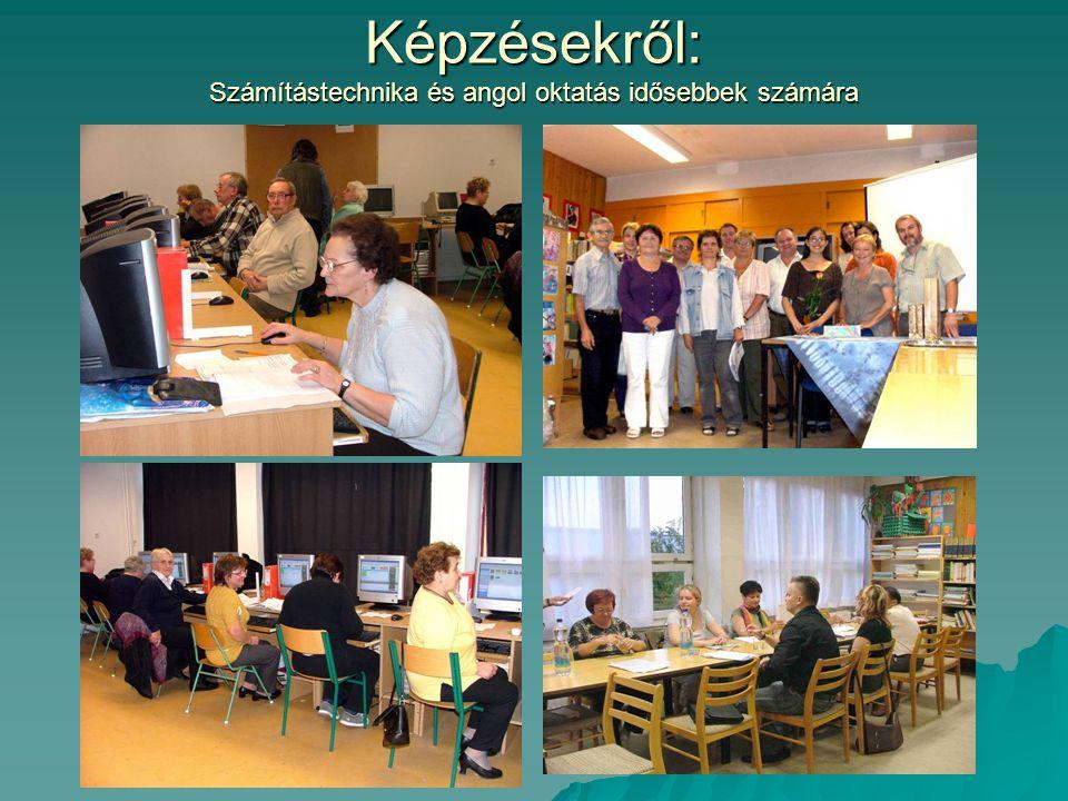Képzésekről: Számítástechnika és angol oktatás idősebbek számára