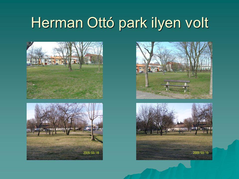 Herman Ottó park ilyen volt