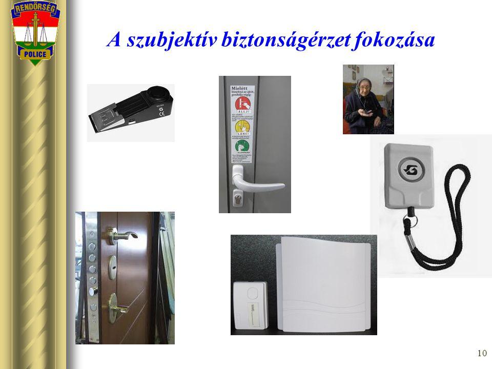 10 A szubjektív biztonságérzet fokozása