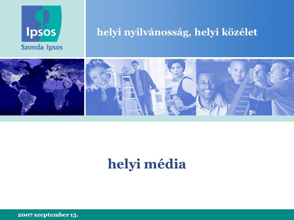 2007 szeptember 13. helyi nyilvánosság, helyi közélet helyi média
