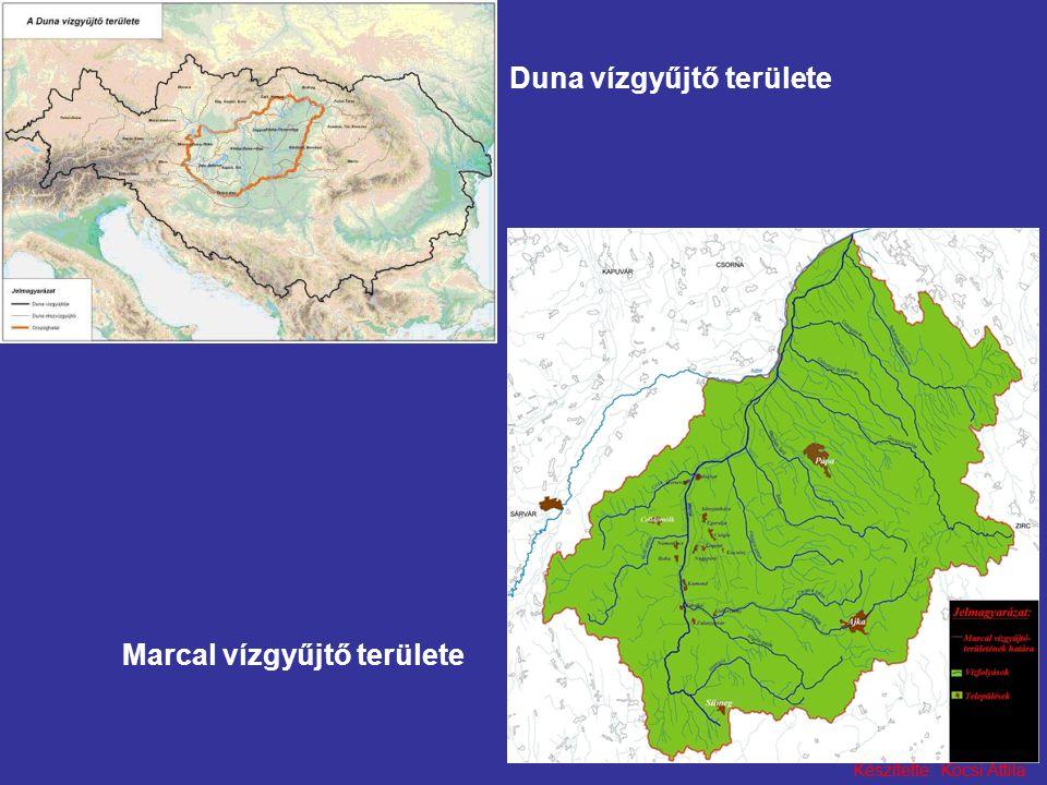 Készítette: Kocsi Attila Duna vízgyűjtő területe Marcal vízgyűjtő területe
