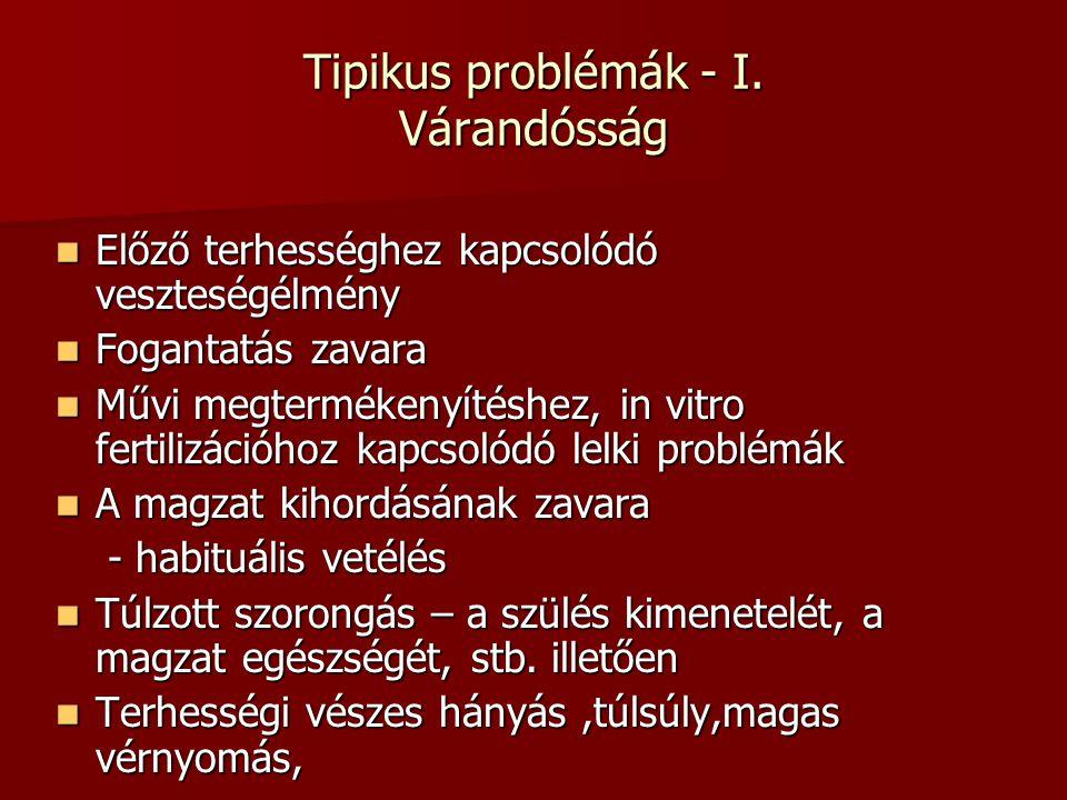 Tipikus problémák - I.