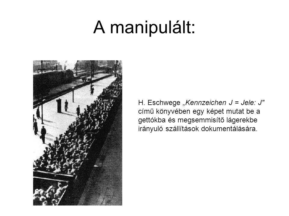 """A manipulált: H. Eschwege """"Kennzeichen J = Jele: J"""