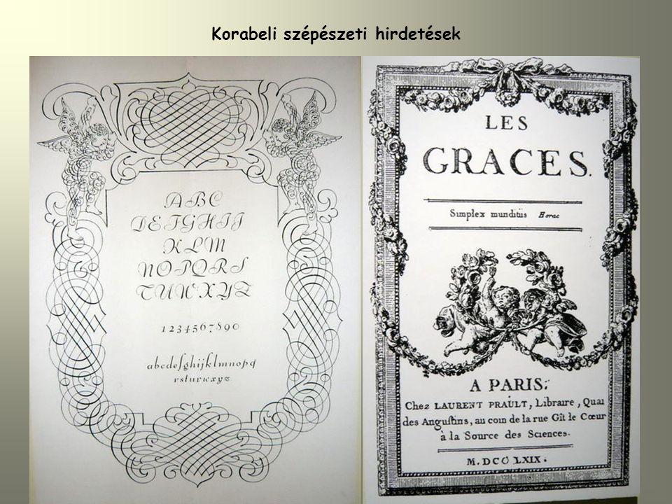 Korabeli szépészeti hirdetések