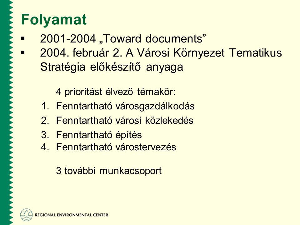 """Folyamat  2001-2004 """"Toward documents  2004. február 2."""