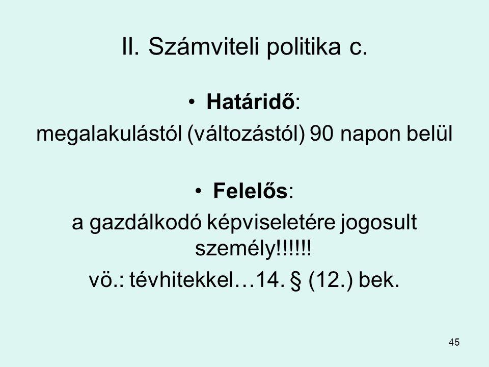 45 II.Számviteli politika c.