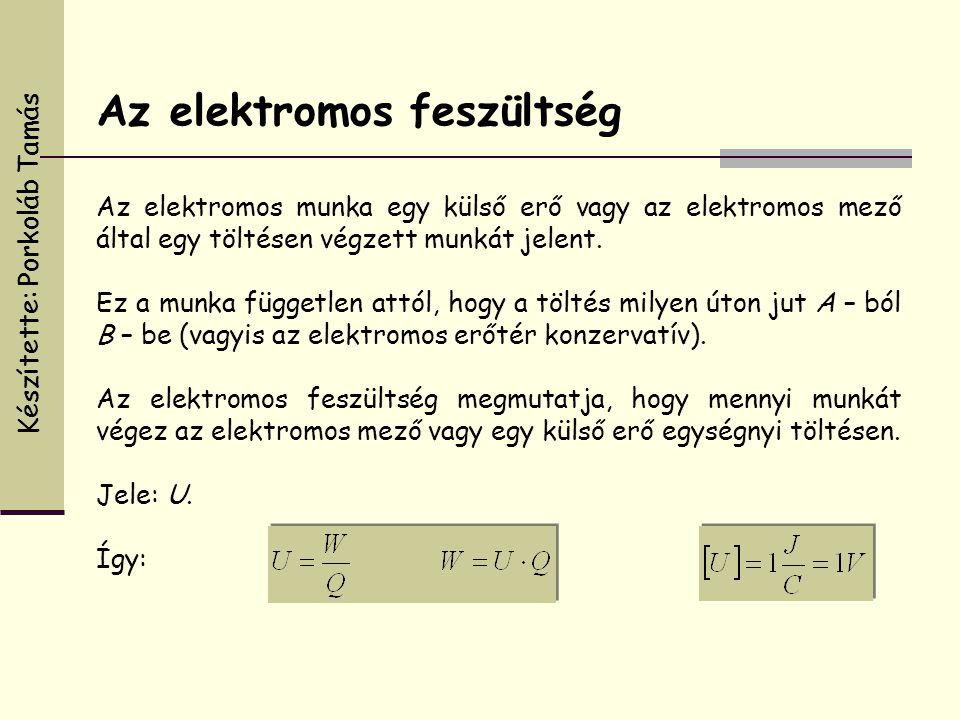 Az elektromos munka egy külső erő vagy az elektromos mező által egy töltésen végzett munkát jelent. Ez a munka független attól, hogy a töltés milyen ú