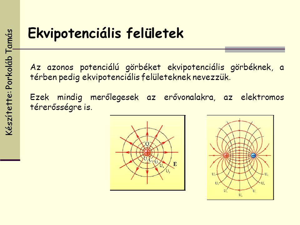 Az azonos potenciálú görbéket ekvipotenciális görbéknek, a térben pedig ekvipotenciális felületeknek nevezzük. Ezek mindig merőlegesek az erővonalakra
