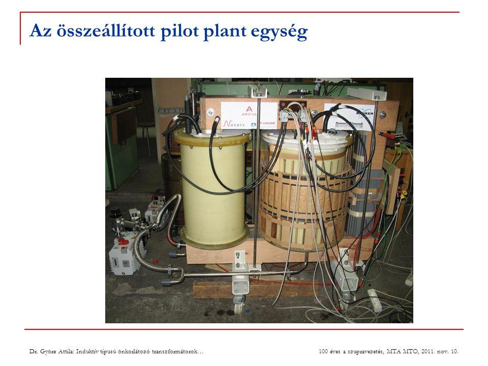 Az összeállított pilot plant egység 19 Dr.