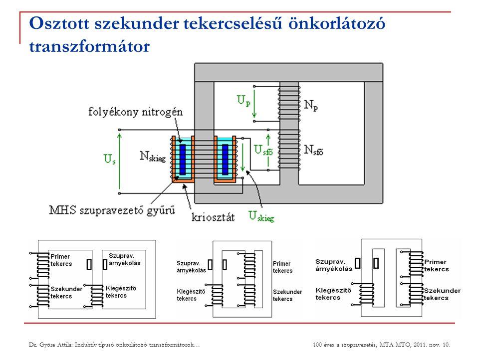 Osztott szekunder tekercselésű önkorlátozó transzformátor 3 Dr.