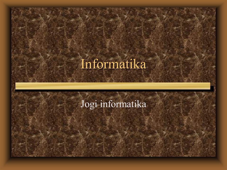 Informatika Jogi informatika