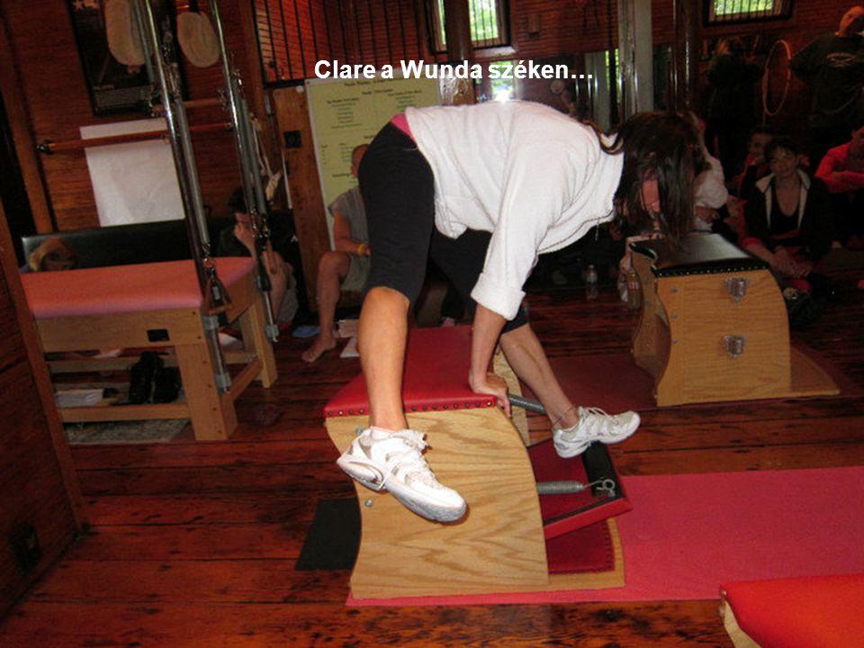 Clare a Wunda széken…