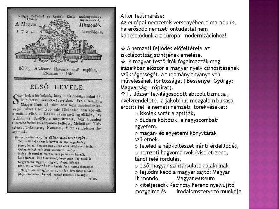 """nyelvújítók: maradiak: neológusok ortológusok Kazinczy Ferenc""""Mondolat Kölcsey Ferenc: """"Felelet a Mondolatra 10 000 új szó születik e munka során."""