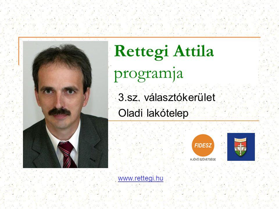 Rettegi Attila programja 3.sz. választókerület Oladi lakótelep www.rettegi.hu
