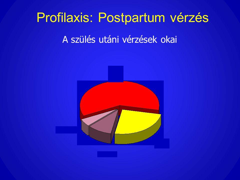 Profilaxis: Postpartum vérzés A szülés utáni vérzések okai