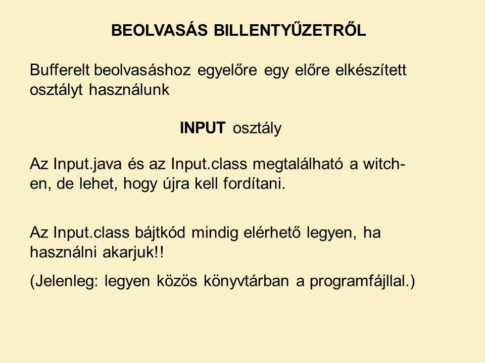 Az Input.java és az Input.class megtalálható a witch- en, de lehet, hogy újra kell fordítani.