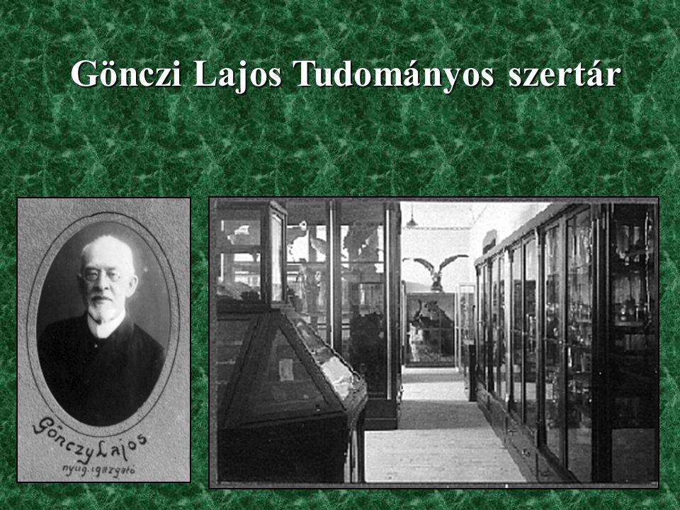 Gönczi Lajos Tudományos szertár