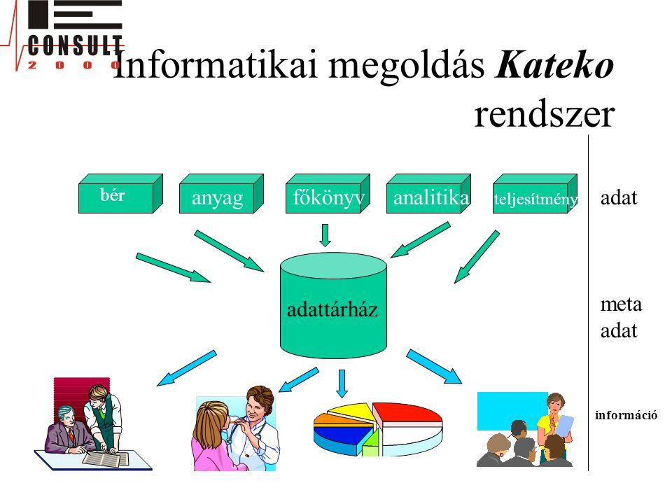 Informatikai megoldás Kateko rendszer bér anyagfőkönyvanalitika bér teljesítmény adattárház adat meta adat információ