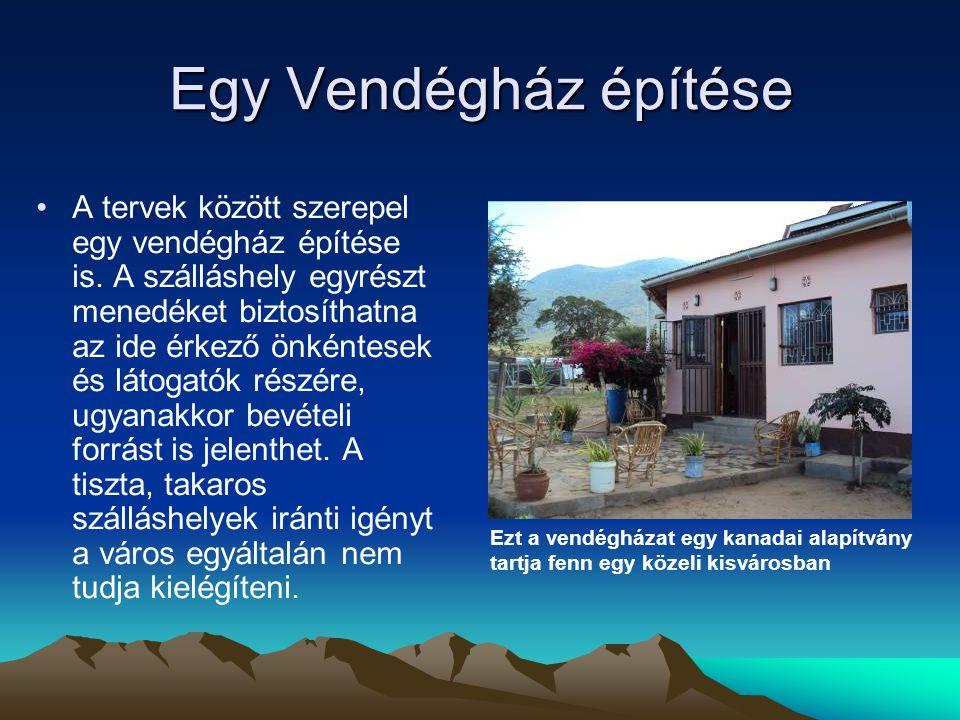 Egy Vendégház építése •A tervek között szerepel egy vendégház építése is.