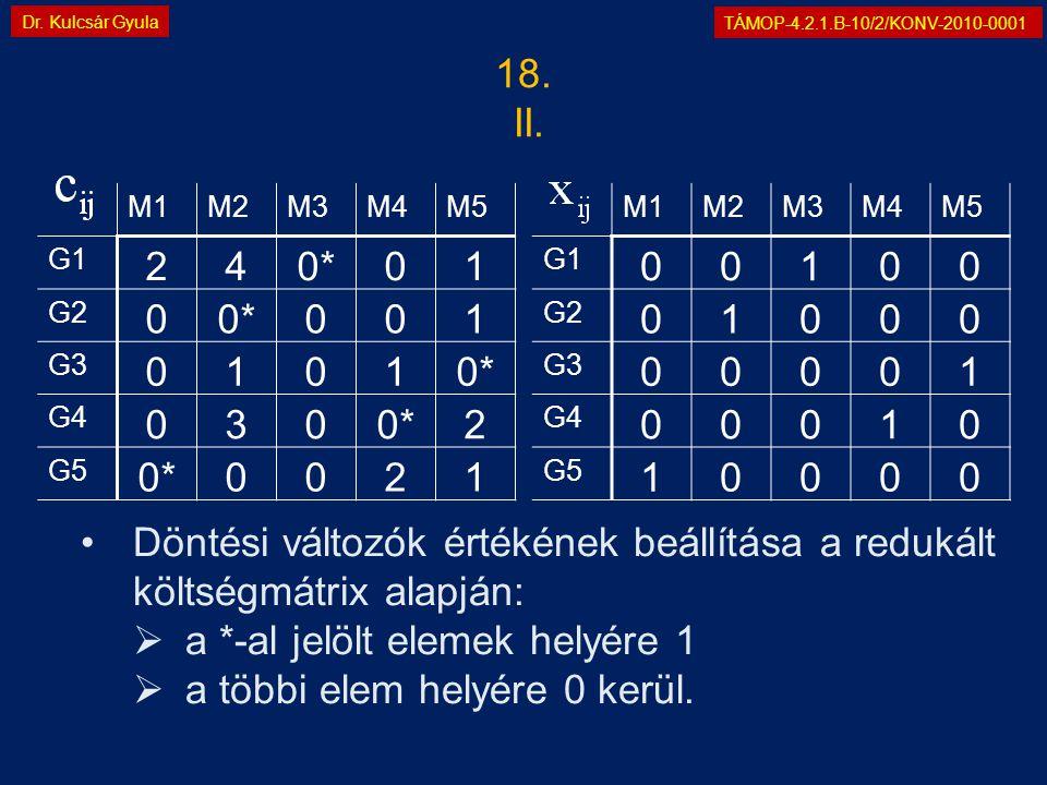 TÁMOP-4.2.1.B-10/2/KONV-2010-0001 Dr. Kulcsár Gyula 18.