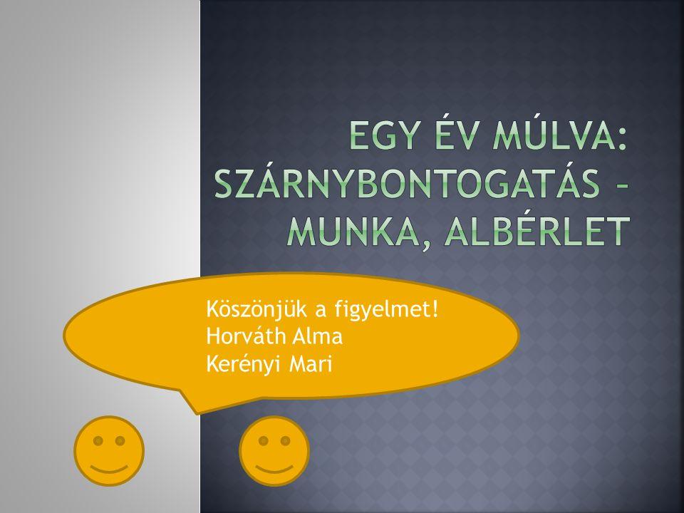 Köszönjük a figyelmet! Horváth Alma Kerényi Mari