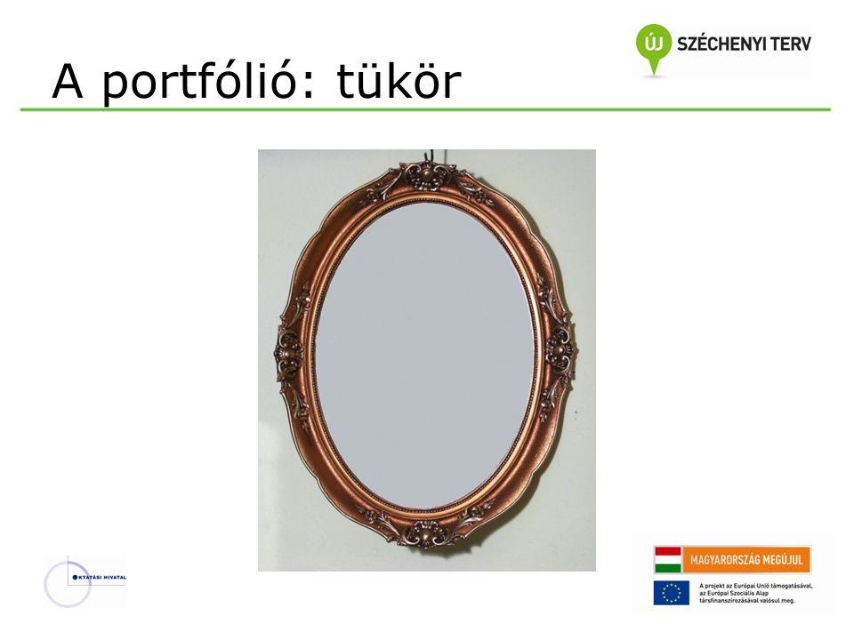 A portfólió: tükör