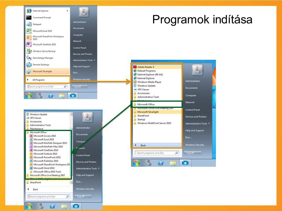 Programok indítása