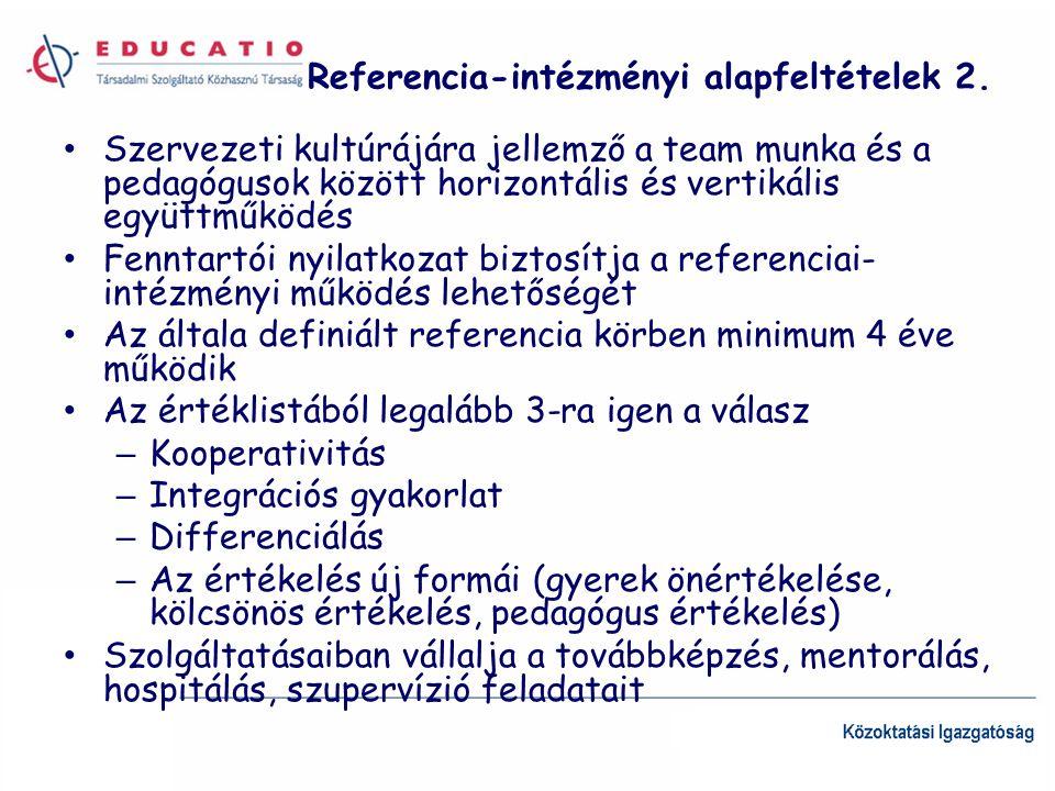 Referencia-intézményi alapfeltételek 2.