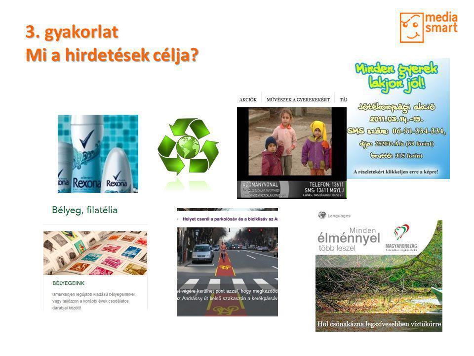 3.gyakorlat • Keress a Neten reklámokat.