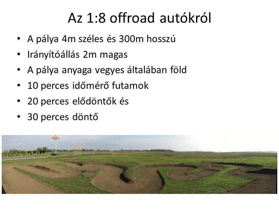 Motor és teljesítmény • 3,5 cm 3 • 2,5…3 LE • 45000 1/min • Metanol + nitrometán + szintetikus olaj • 70 … 80 km/h