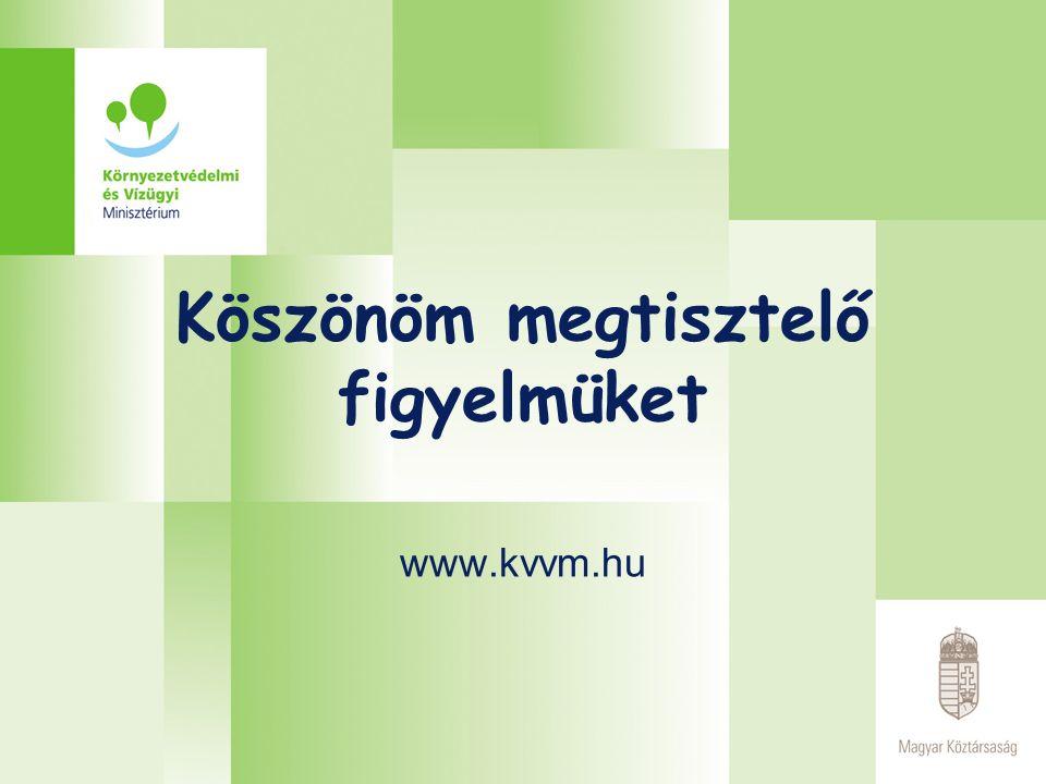 Köszönöm megtisztelő figyelmüket www.kvvm.hu