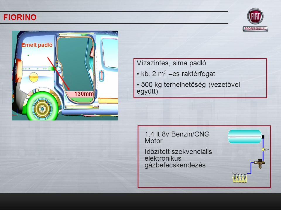 GRANDE PUNTO VAN Az autónak két a tartálya van, amelyek a padló alatt helyezkednek el, és két speciális acélvédő lemez óvja az esetleges sérülésektől.