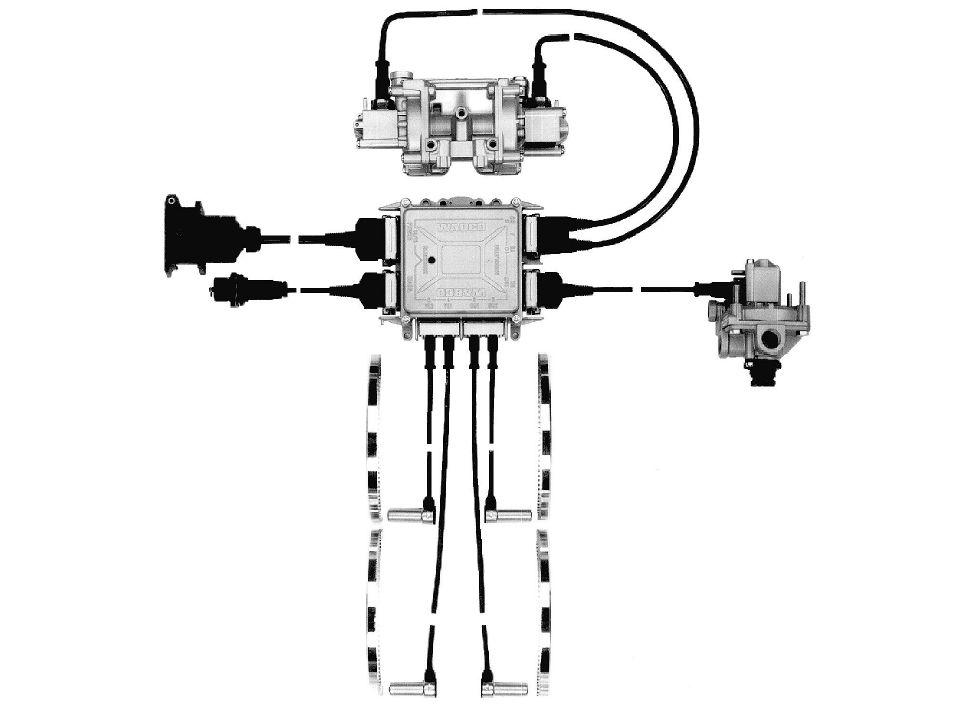 Zárt rendszerű ABS egyik csatornája