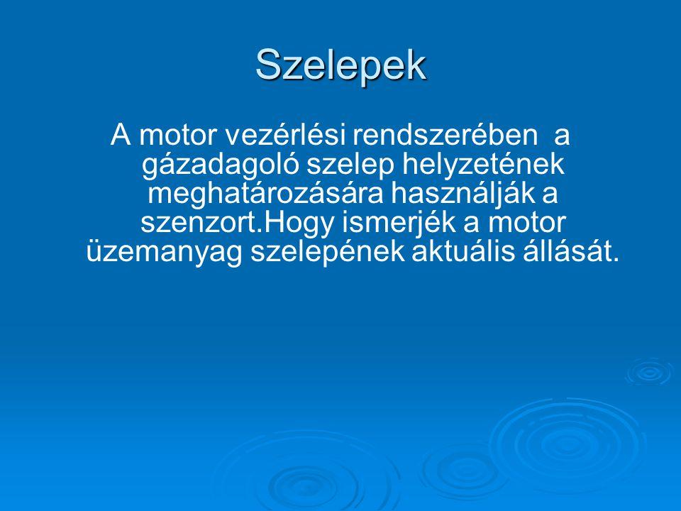 Szelepek A motor vezérlési rendszerében a gázadagoló szelep helyzetének meghatározására használják a szenzort.Hogy ismerjék a motor üzemanyag szelepének aktuális állását.