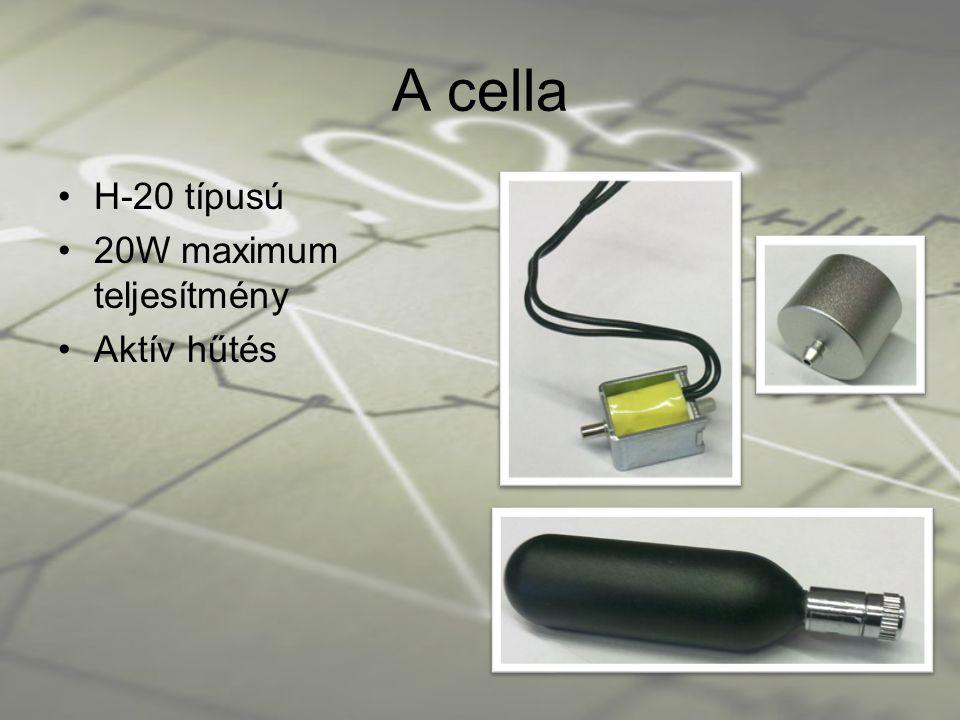 A cella •H-20 típusú •20W maximum teljesítmény •Aktív hűtés