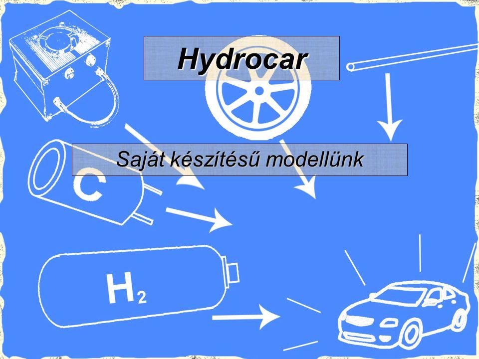 Saját készítésű modellünk Hydrocar
