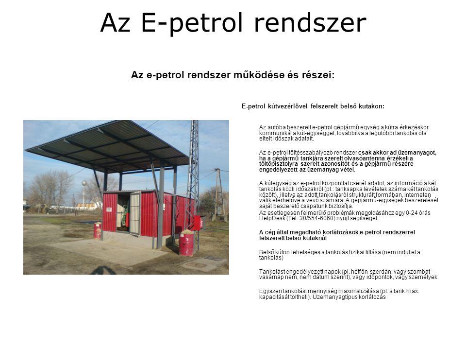 Az E-petrol egység Olvasó antenna és tanksapka azonosító
