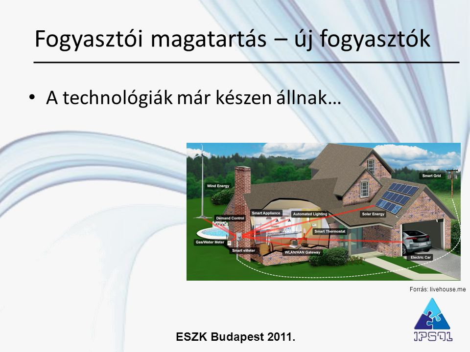 ESZK Budapest 2011. • A technológiák már készen állnak… Fogyasztói magatartás – új fogyasztók Forrás: livehouse.me