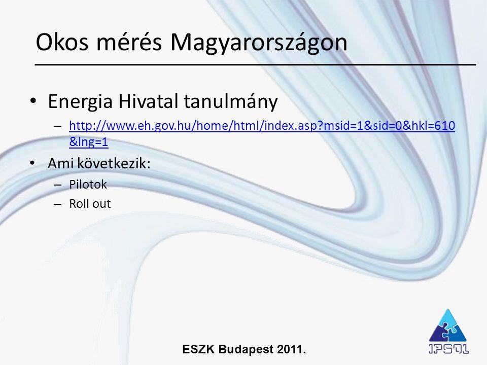 ESZK Budapest 2011. • Energia Hivatal tanulmány – http://www.eh.gov.hu/home/html/index.asp?msid=1&sid=0&hkl=610 &lng=1 http://www.eh.gov.hu/home/html/