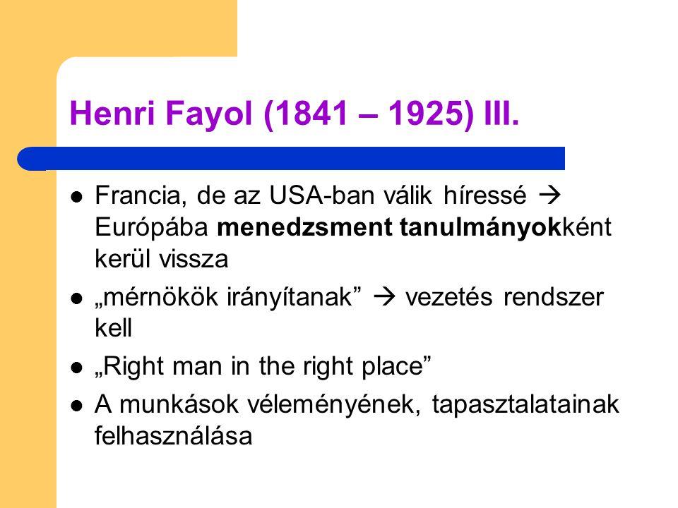 Henry Ford (1863 – 1947)  Életrajz: – Taylor kortársa – Szegény család  iskolázatlan – Tehetséges tervező – Első munkahelye: Detroit Áramszolgáltató Vállalat – főmérnök vs.