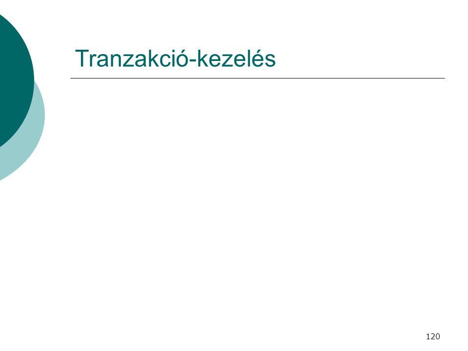 120 Tranzakció-kezelés