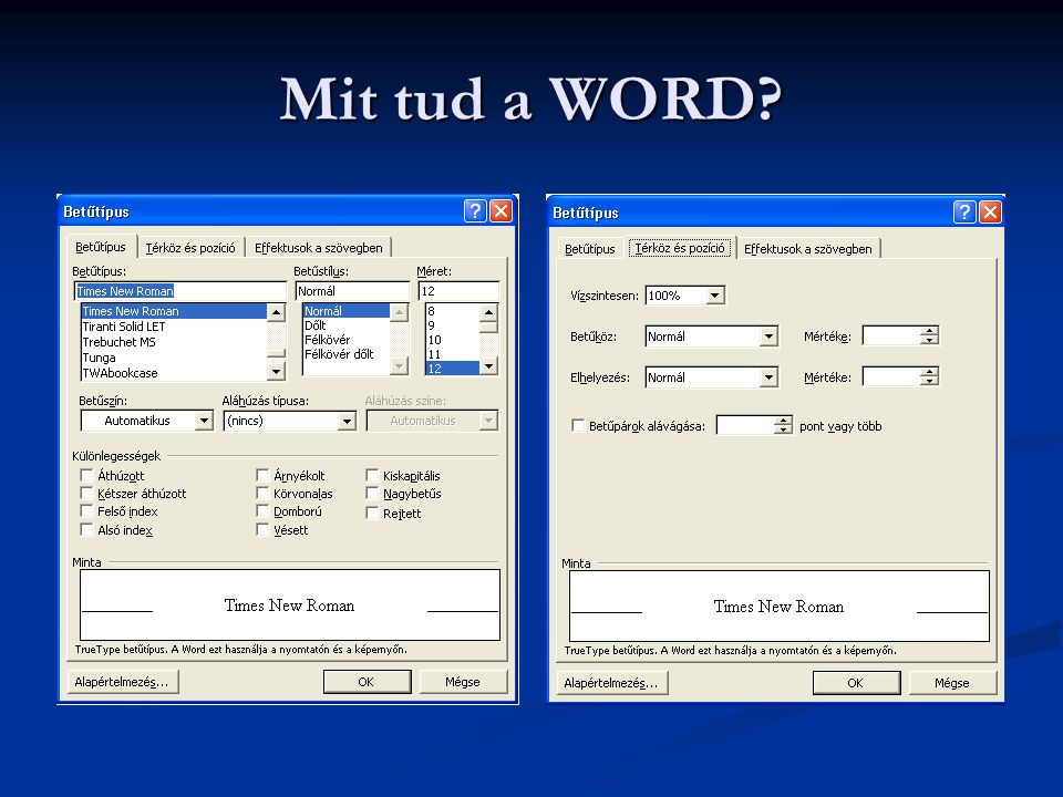 Mit tud a WORD?