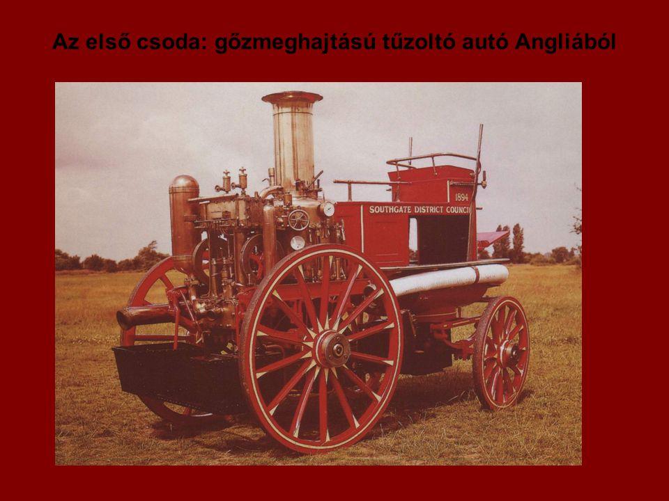 Az első csoda: gőzmeghajtású tűzoltó autó Angliából