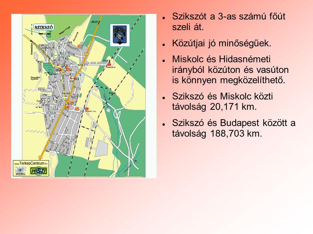  Szikszót a 3-as számú főút szeli át.  Közútjai jó minőségűek.  Miskolc és Hidasnémeti irányból közúton és vasúton is könnyen megközelíthető.  Szi