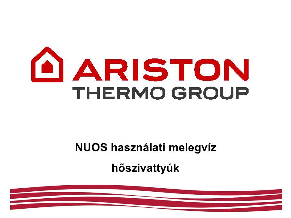 NUOS – hatékonysági összehasonlítás A hőszivattyú-adatok az alábbi feltételek mellett érvényesek: hőmérsékletemelés 10 °C-ról 55 °C-ra úgy, hogy a környezeti hőmérséklet 20 °C