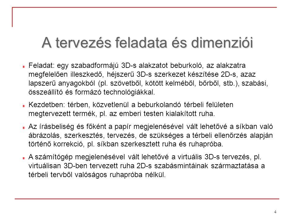 15 A 3D-s tervezés néhány matematikai problémája 3.