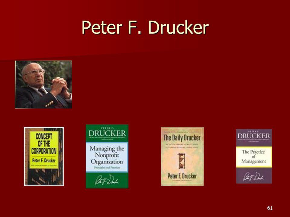 61 Peter F. Drucker