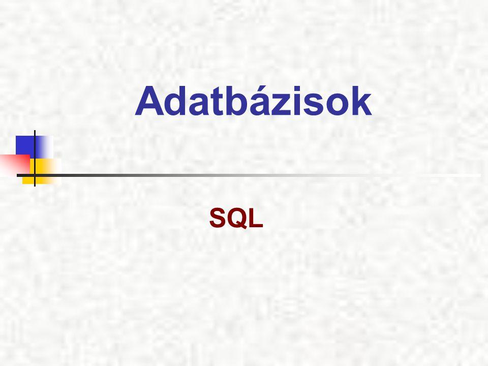 Adatbázisok SQL