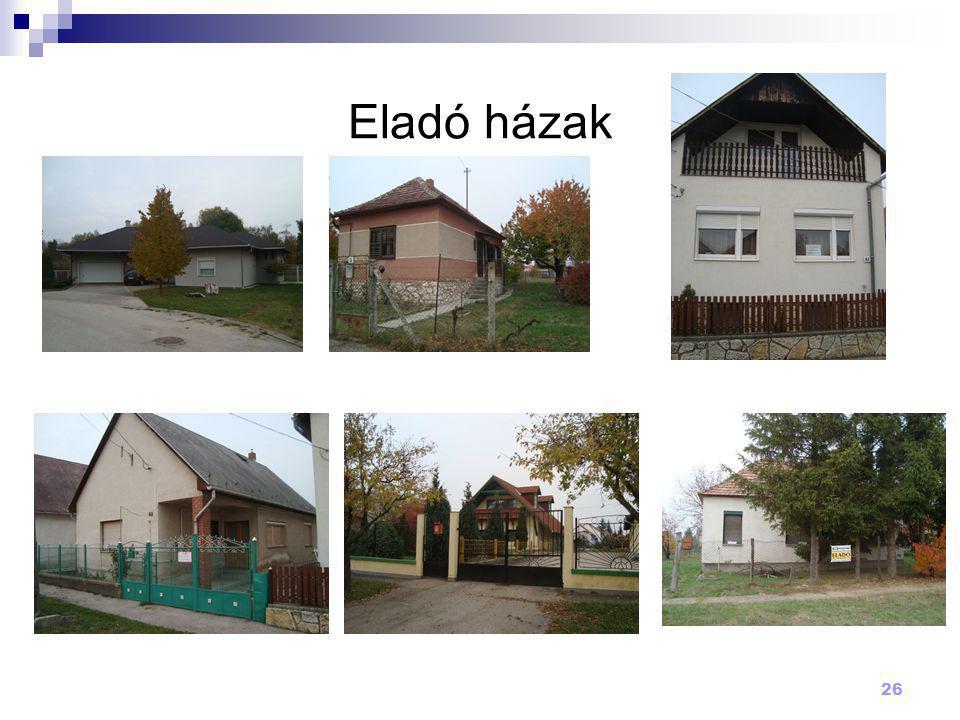 26 Eladó házak